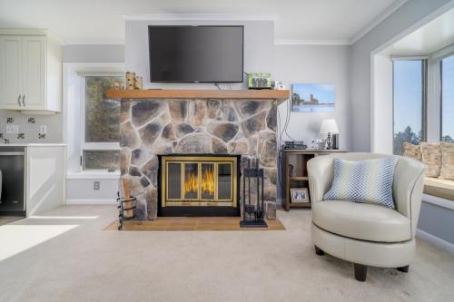 real estate photo of fireplace lakewood ny
