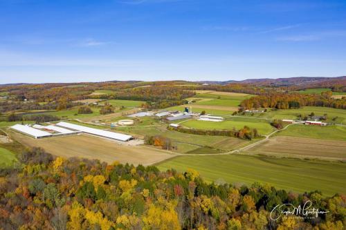 Drone large farm photo Randolph NY