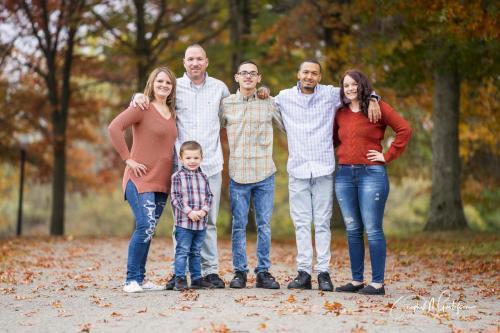 Family photo Fall season